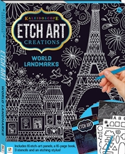 Kaleidoscope Etch Art Creations: World Landmarks | Hardback Book