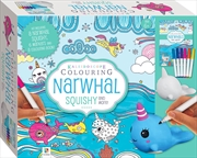 Kaleidoscope Colouring: Narwhal Squishy | Hardback Book