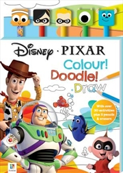 Disney Pixar 5-Pencil and Eraser Set | Hardback Book