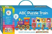 Building Blocks Puzzle Train - ABC | Hardback Book