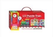 Building Blocks Puzzle Train: 123 | Hardback Book