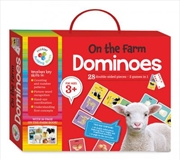 On the Farm Building Blocks Dominoes | Hardback Book