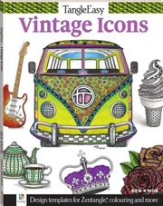 Tangle Easy: Vintage Icons | Paperback Book
