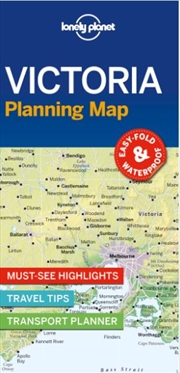 Lonely Planet Victoria Planning Map | Paperback Book