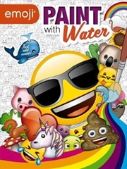 emoji: Paint With Water | Paperback Book
