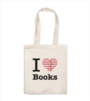 I Love Books Tote Bag | Apparel
