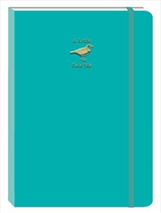 Bird Teal Motif Journal | Merchandise