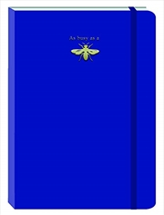Bee Dark Blue Motif Journal