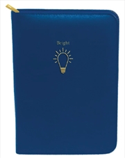 Dark Blue Light Bulb Gold Zip | Merchandise