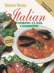 Italian Cooking Class Cookbook - Vintage Edition | Paperback Book