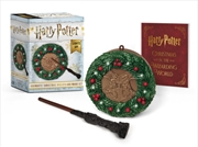Harry Potter: Hogwarts Christmas Wreath and Wand Set | Merchandise