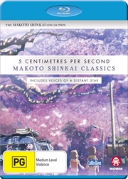 Makoto Shinkai Classics - Voices Of A Distant Star / 5 Centimetres Per Second | Blu-ray
