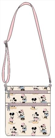 Mickey Mouse - Mickey & Minnie Pastel Passport Bag | Apparel