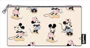 Mickey Mouse - Mickey & Minnie Pastel Pouch