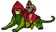Masters of the Universe - He-man on Battle Cat Enamel Pin