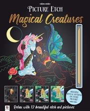 Picture Etch Magical Creatures | Hardback Book