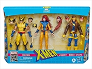 Marvel Legends X-Men Jean Grey, Cyclops, and Wolverine 6-Inch Action Figure 3-Pack | Merchandise