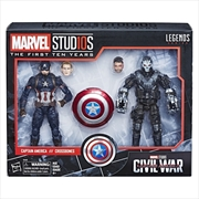 Marvel Legends MCU 10th Ann. Captain America and Crossbones Action Figures | Merchandise