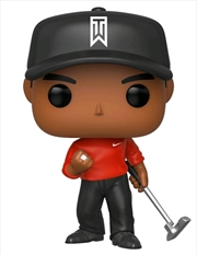 Golf - Tiger Woods Red Shirt Pop! Vinyl