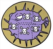 Simpsons - Poison, Poison Tasty Fish Enamel Pin