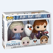 Frozen 2 - Anna, Elsa and Olaf Pop! 3pk | Pop Vinyl