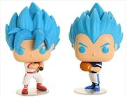 Dragon Ball Super - Goku & Vegeta Baseball US Exclusive Pop! Vinyl 2-Pack [RS]