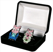 The Simpsons - Pig Bride & Groom Cufflinks Replica | Apparel
