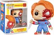Child's Play - Chucky Half Battle Damaged US Exclusive Pop! Vinyl [RS] | Pop Vinyl