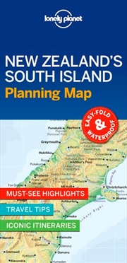 Lonely Planet New Zealand's South Island Planning Map | Sheet Map