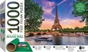 Eiffel Tower Jigsaw With Felt Roll