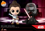 Star Wars - Rey & Kylo Ren Episode IX Rise of Skywalker Cosbaby Set | Merchandise