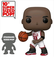 "NBA: Bulls - Michael Jordan White Jersey US Exclusive 10"" Pop! Vinyl [RS] 