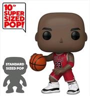 """NBA: Bulls - Michael Jordan Red Jersey US Exclusive 10"""" Pop! Vinyl   Pop Vinyl"""