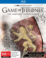 Game Of Thrones - Season 8  (SANITY EXCLUSIVE) + (BOTTLE OPENER) | Blu-ray