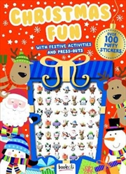 Puffy Sticker Christmas Fun With Festive Activities | Paperback Book