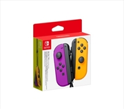 Nintendo Switch Joy Con Neon Purple and Neon Orange Pair Controller | Nintendo Switch