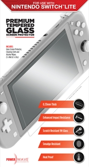 Powerwave Premium Tempered Glass Screen Protector for Nintendo Switch Lite | Nintendo Switch