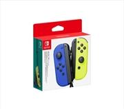 Nintendo Switch Joy Con Blue and Neon Yellow Pair Controller | Nintendo Switch