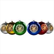 Harry Potter - Hogwarts Christmas Baubles Set of 6 | Miscellaneous