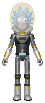 Rick and Morty - Space Suit Rick Metallic US Exclusive Action Figure [RS] | Merchandise