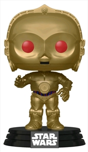 Star Wars - C-3PO Red Eyes Metallic Episode IC Rise of Skywalker Pop! Vinyl | Pop Vinyl