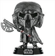 Star Wars - Knight of Ren Axe Episode IX Rise of Skywalker Hematite Chrome Pop! Vinyl | Pop Vinyl