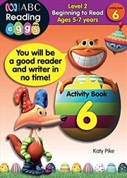 ABC Reading Eggs Level 2 Beginning to Read Activity Book 6 Ages 5-7 | Paperback Book