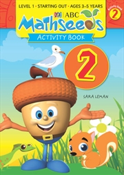 ABC Mathseeds Activity Book 2 Level 1 Ages 3-5   Paperback Book