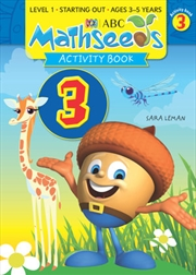 ABC Mathseeds Activity Book 3 Level 1 Ages 3-5   Paperback Book