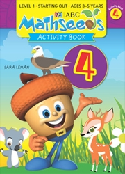 ABC Mathseeds Activity Book 4 Level 1 Ages 3-5   Paperback Book