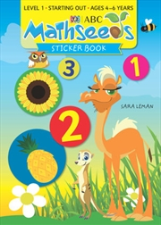 ABC Mathseeds Sticker Book Ages 4-6   Paperback Book