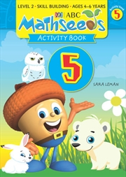 ABC Mathseeds Activity Book 5 Level 2 Ages 4-6 | Paperback Book
