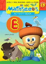 ABC Mathseeds Activity Book 6 Level 2 Ages 4-6 | Paperback Book