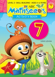 ABC Mathseeds Activity Book 7 Level 2 Ages 4-6 | Paperback Book